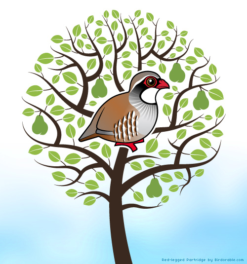 Birdorable Partridge in a pear tree