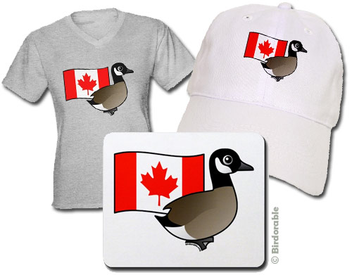 Birdorable Canada Goose with Flag