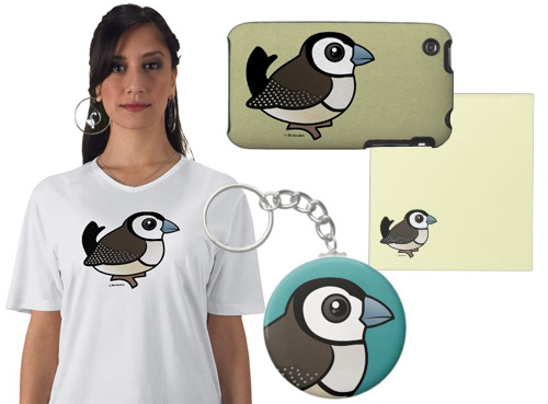 Birdorable Double-barred Finch sample products