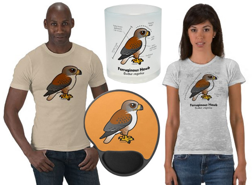 Cute Ferruginous Hawk t-shirts and gifts
