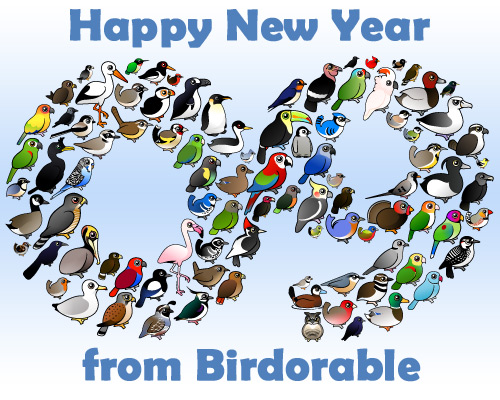 Happy New Year 2009 from Birdorable