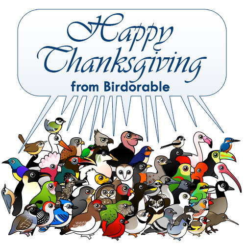 Happy Thanksgiving from Birdorable