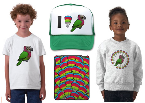 Hawk-headed Parrot t-shirts and gifts