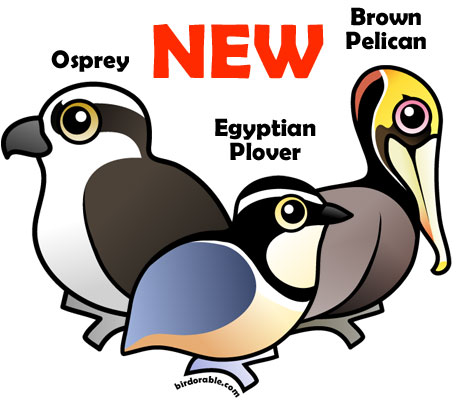 New Birdorable Osprey, Egyptian Plover and Brown Pelican