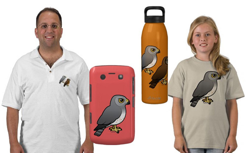 Sample Northern Harrier t-shirts and gifts