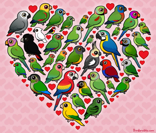 Birdorable Parrot Heart
