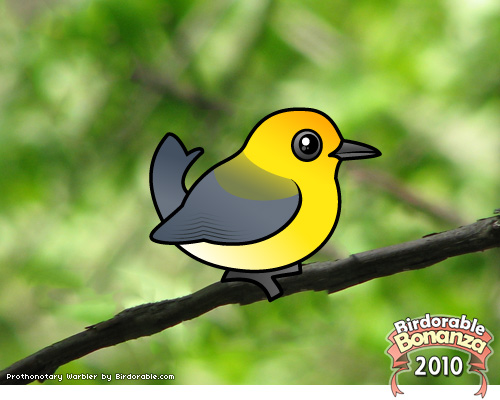 Birdorable Prothonotary Warbler