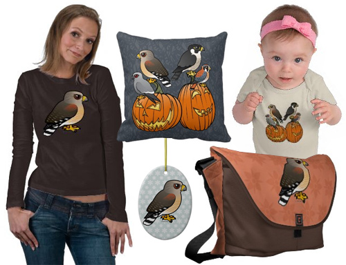 Cute Red-shouldered Hawk t-shirts and gifts