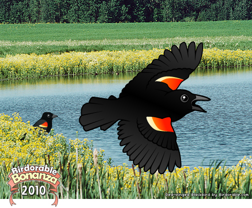 Birdorable Red-winged Blackbird