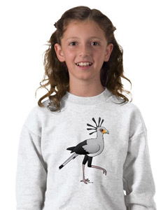 Birdorable Secretary Bird Kids Sweatshirt