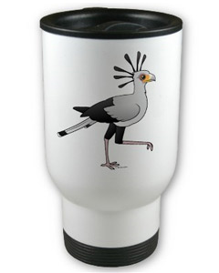 Birdorable Secretary Bird Travel Mug