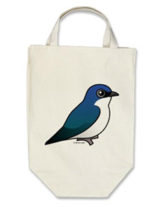 Birdorable Tree Swallow Organic Grocery Tote