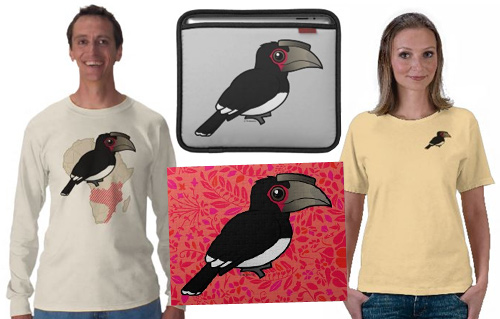 Sample Trumpeter Hornbill t-shirts and gifts