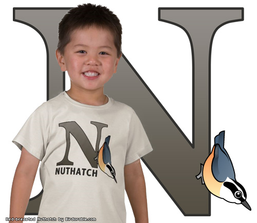 Birdorable N is for Nuthatch