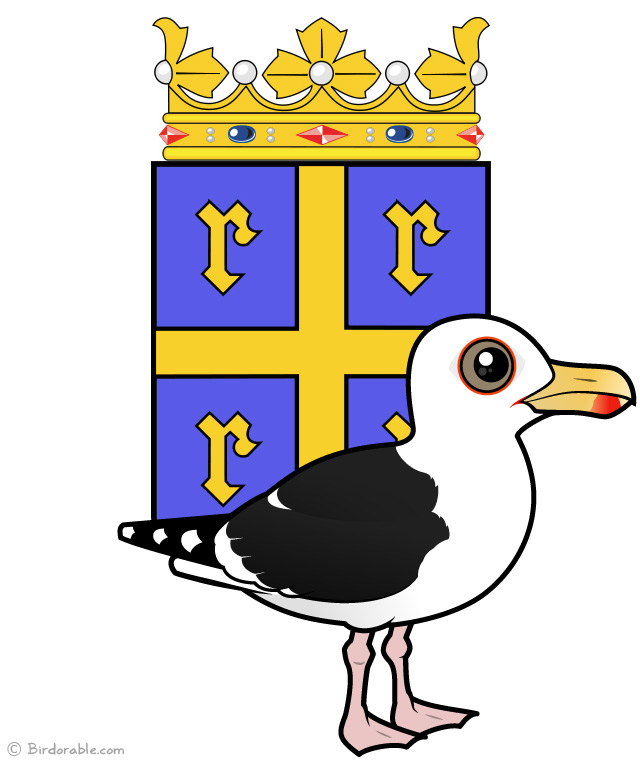 Great Black-backed Gull with the Rauma Coat of Arms