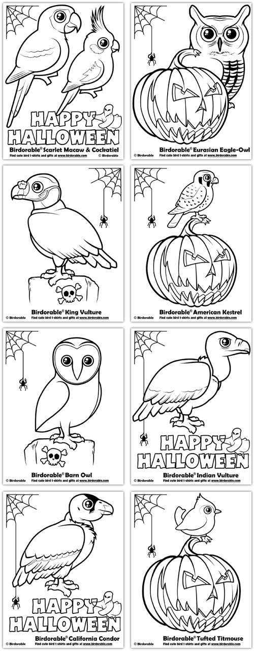 Birdorable Halloween Coloring Pages