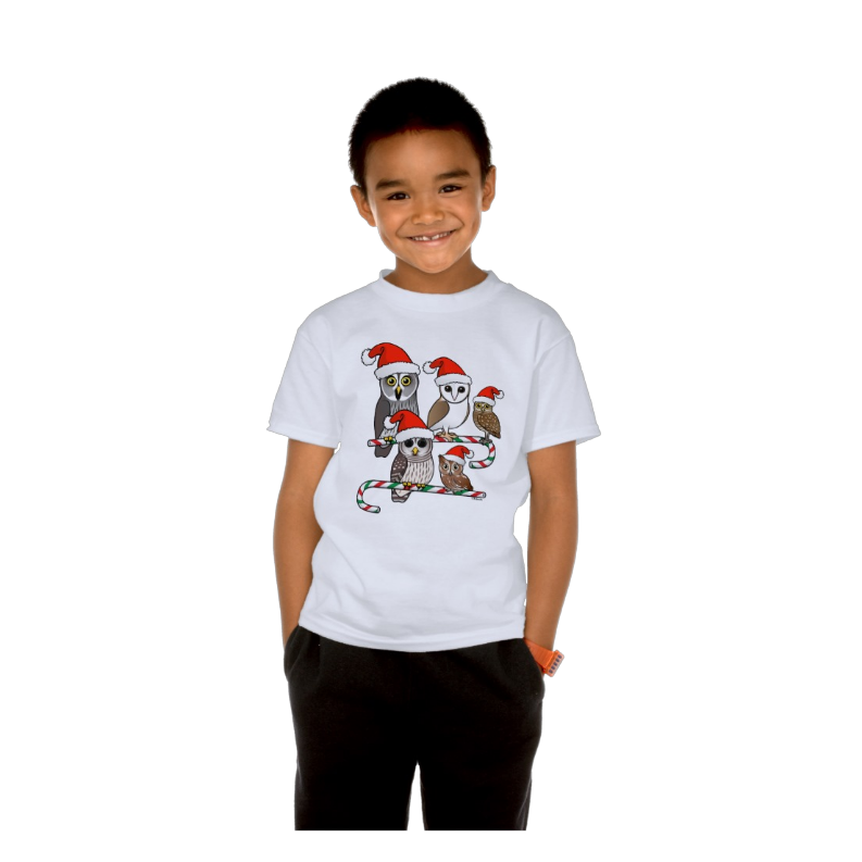 Birdorable Santa Owls Kid's T-shirt