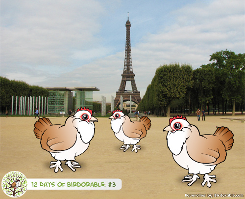 Three Birdorable French Hens