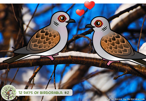 Two Birdorable Turtle Doves