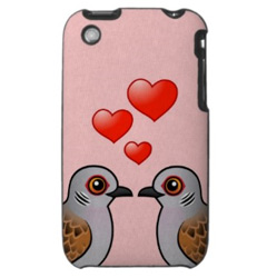 Birdorable Two Turtle Doves iPhone 3 Case