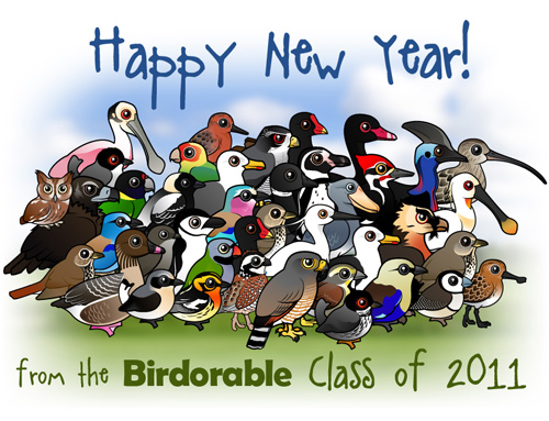 Happy New Year from the Birdorable Class of 2011
