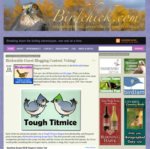 Birdchick's Guest Blogging Contest