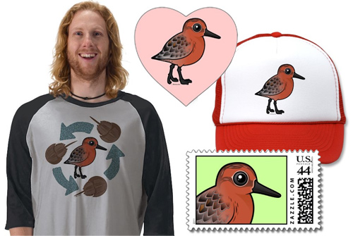 Birdorable Red Knot T-shirt & gifts