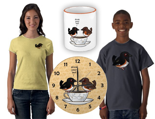 Cute Eastern Towhee t-shirts and gifts