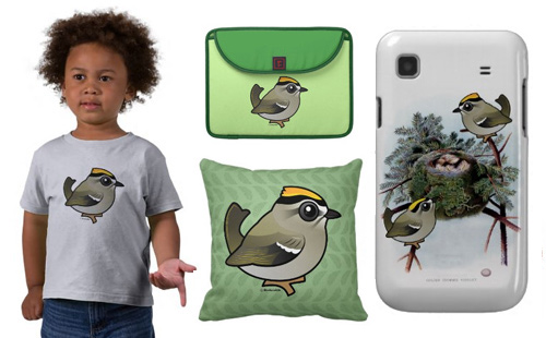 Sample Golden-crowned Kinglet t-shirts and gifts