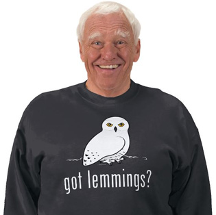 Birdorable Snowy Owl Got Lemmings? t-shirt