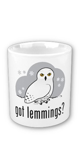Birdorable Snowy Owl Got Lemmings? mug