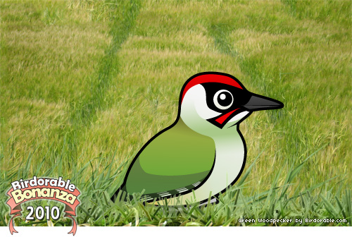 Birdorable Green Woodpecker