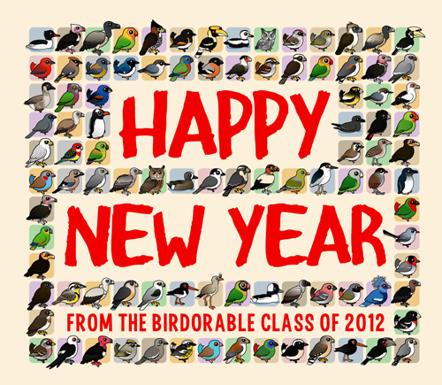 Happy New Year from the Birdorable Class of 2012