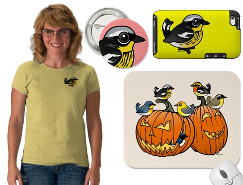 Sample Magnolia Warbler gifts from Birdorable