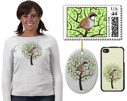 Birdorable Partridge in a Pear Tree t-shirts and gifts