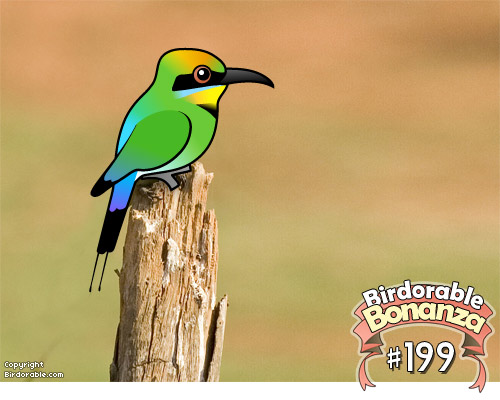 Cute Birdorable Rainbow Bee-eater