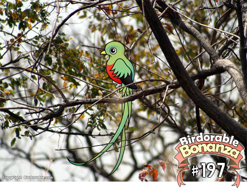 Cute Birdorable Resplendent Quetzal