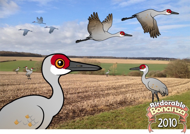 Birdorable Sandhill Crane