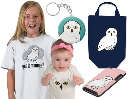 Snowy Owl t-shirts and gifts