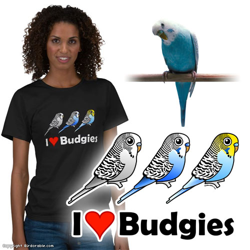 Birdorable I Love Budgies T-Shirt
