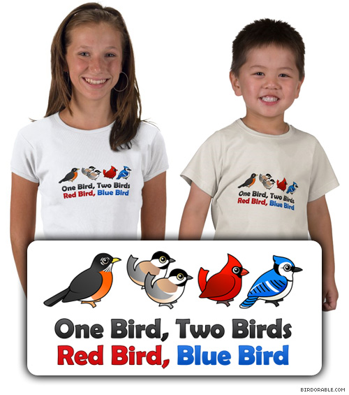 Birdorable One Bird, Two Birds, Red Bird, Blue Bird