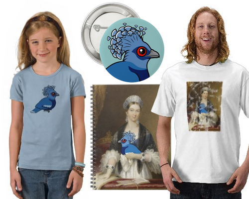 Birdorable Victoria Crowned Pigeon t-shirts and gifts