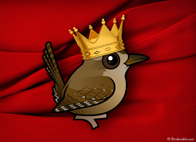 Birdorable Winter Wren as King
