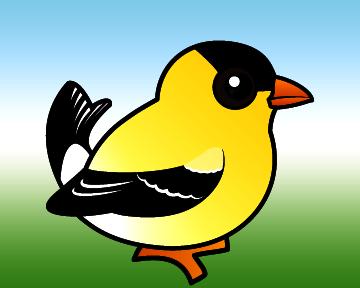 Cute American Goldfinch By Birdorable Meet The Birds