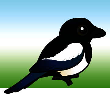 Cute Black billed Magpie by Birdorable Meet the Birds