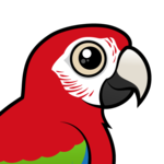 Birdorable Green-winged Macaw