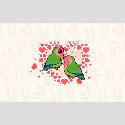Rosy-faced Lovebirds Wallpaper sample