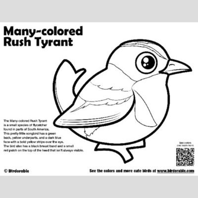 Many-colored Rush Tyrant Coloring Page sample