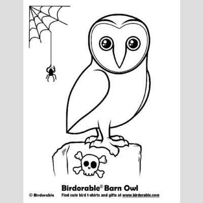 Halloween Barn Owl Coloring Page sample