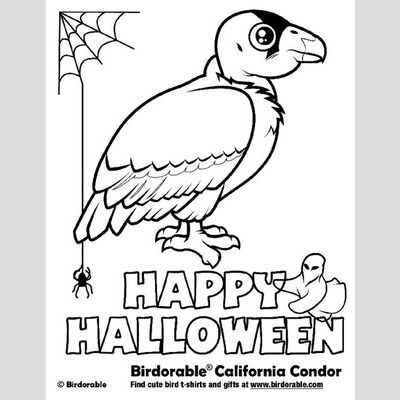 Halloween California Condor Coloring Page sample